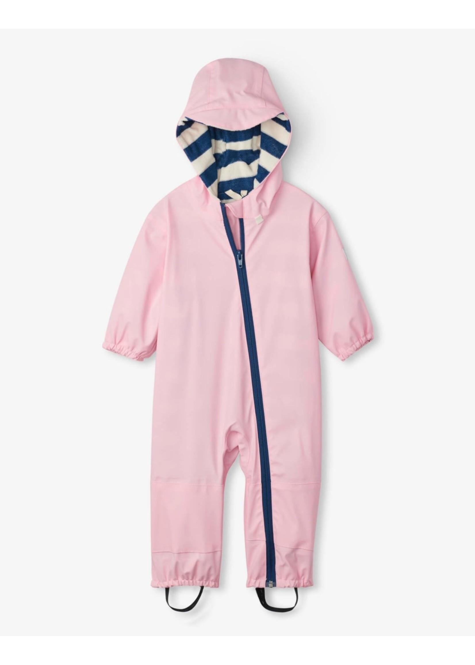 Hatley Hatley, Pink Terry Lined Baby Bundler