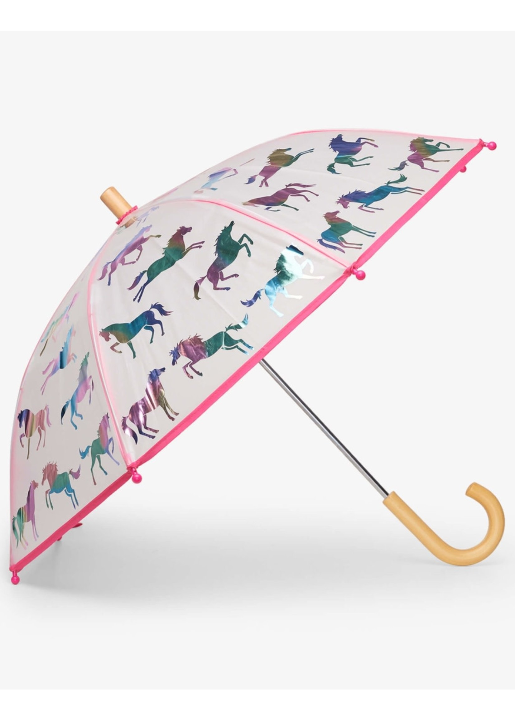 Hatley Hatley, Rainbow Horses Clear Umbrella