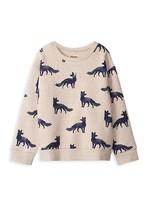 Hatley Hatley, Fox Silhouettes Pull Over Sweatshirt in Oatmeal Melange