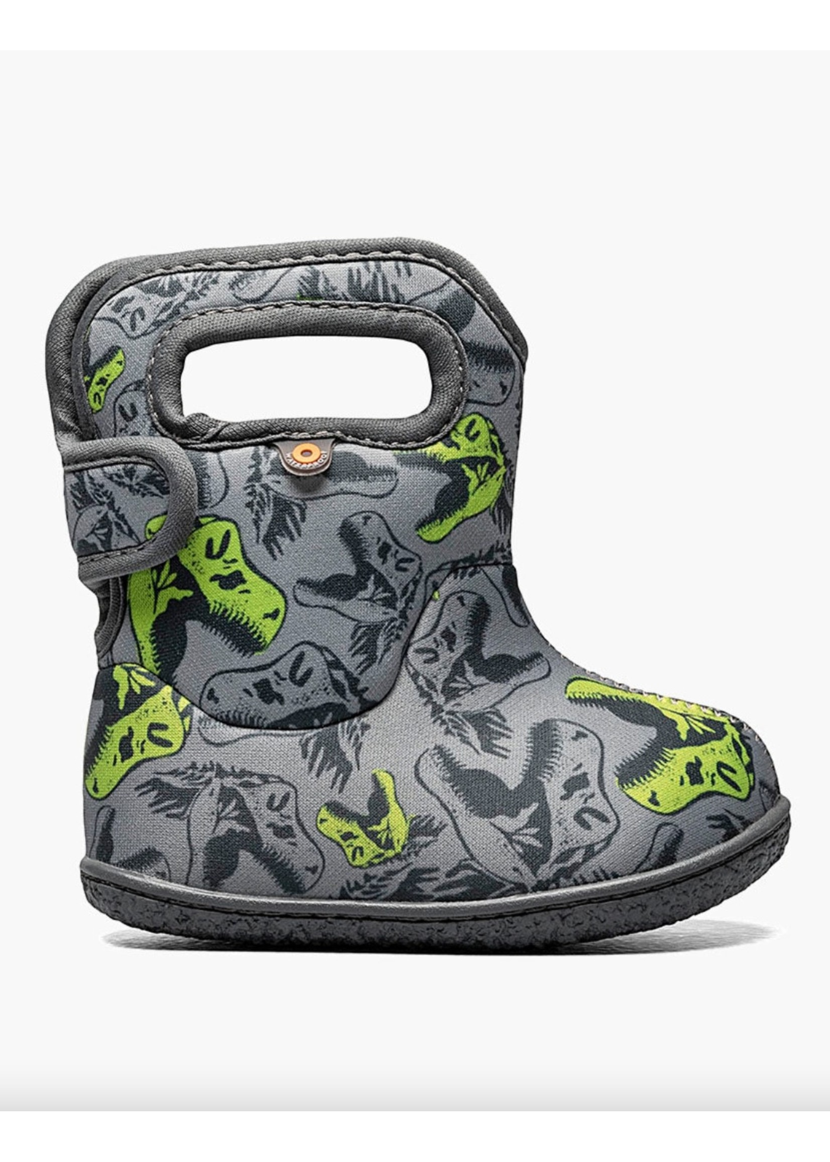 Bogs Bogs, Baby Bogs Grey Cool Dinos Waterproof Boots