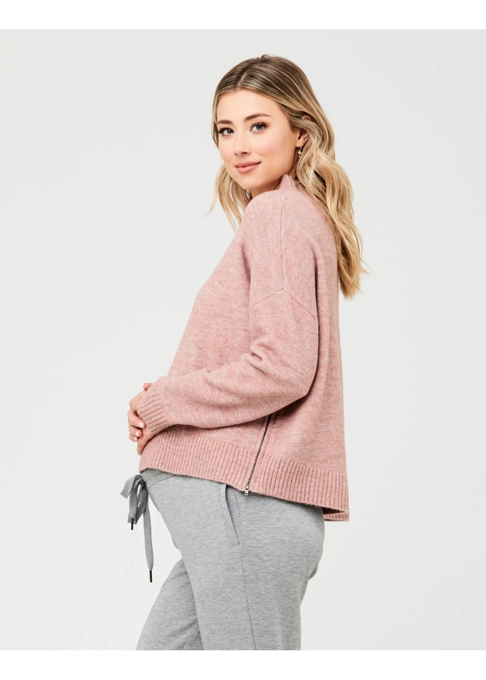 Ripe Maternity RIpe Maternity, Jade Crop Nursing Knit in Dusty Pink
