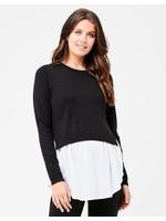 Ripe Maternity Ripe Maternity, Pia Nursing Knit Sweater in Black