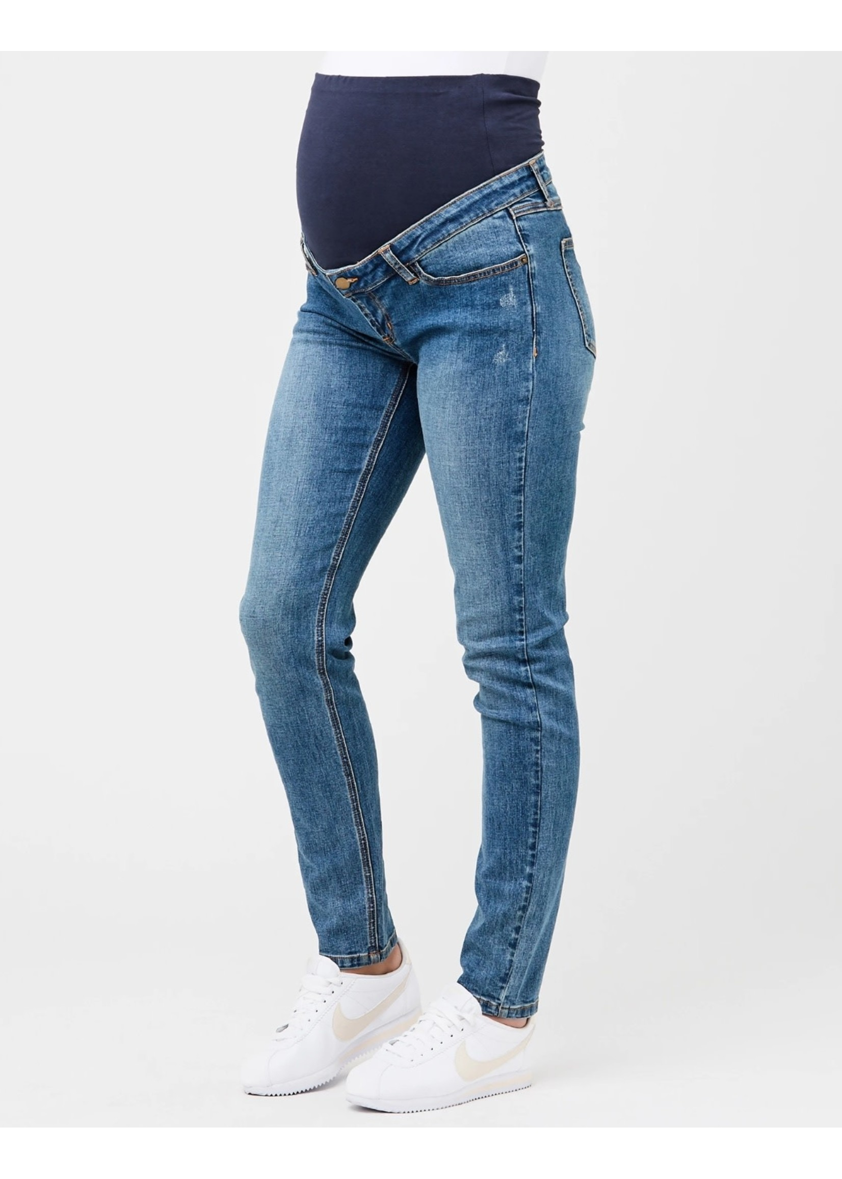 Ripe Maternity RIpe Maternity, Tyler Classic Slim Leg Jean in Blue