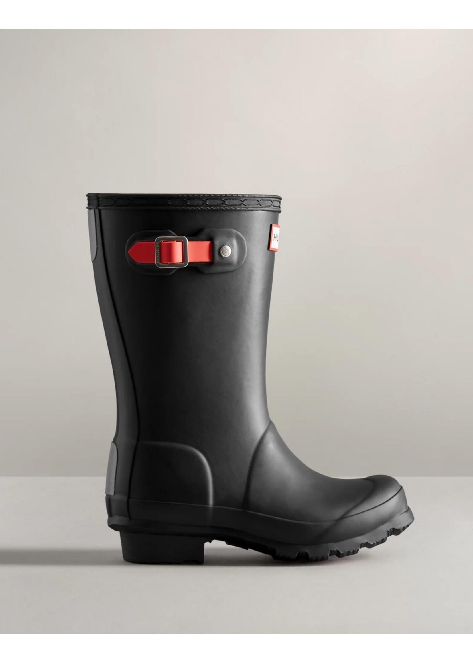 Hunter Boots Hunter Boots, Big Kids Insulated Rain Boots: Black/Logo Red