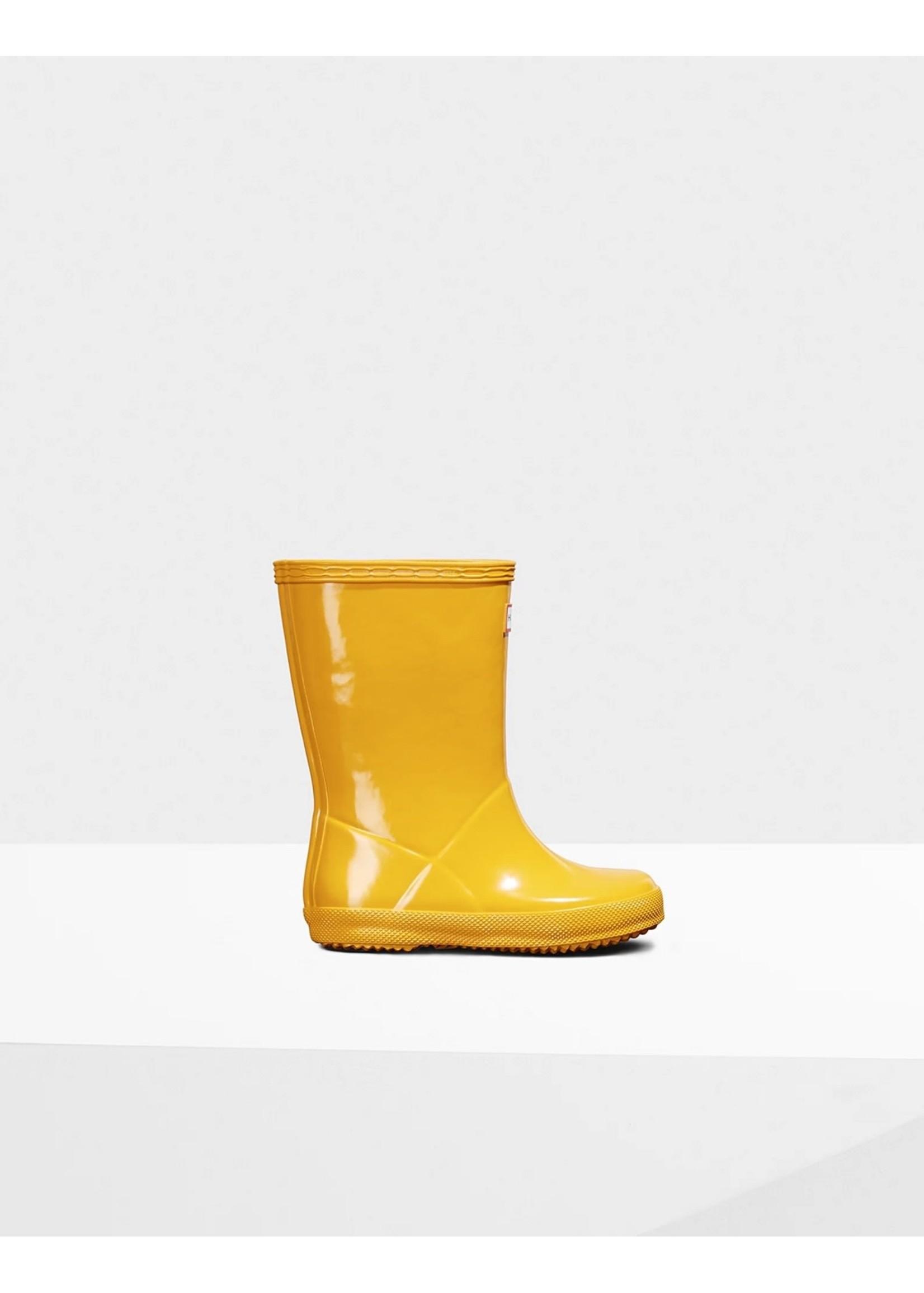 Hunter Boots Hunter Boots, Original Kids First Classic Gloss Rain Boots: Yellow