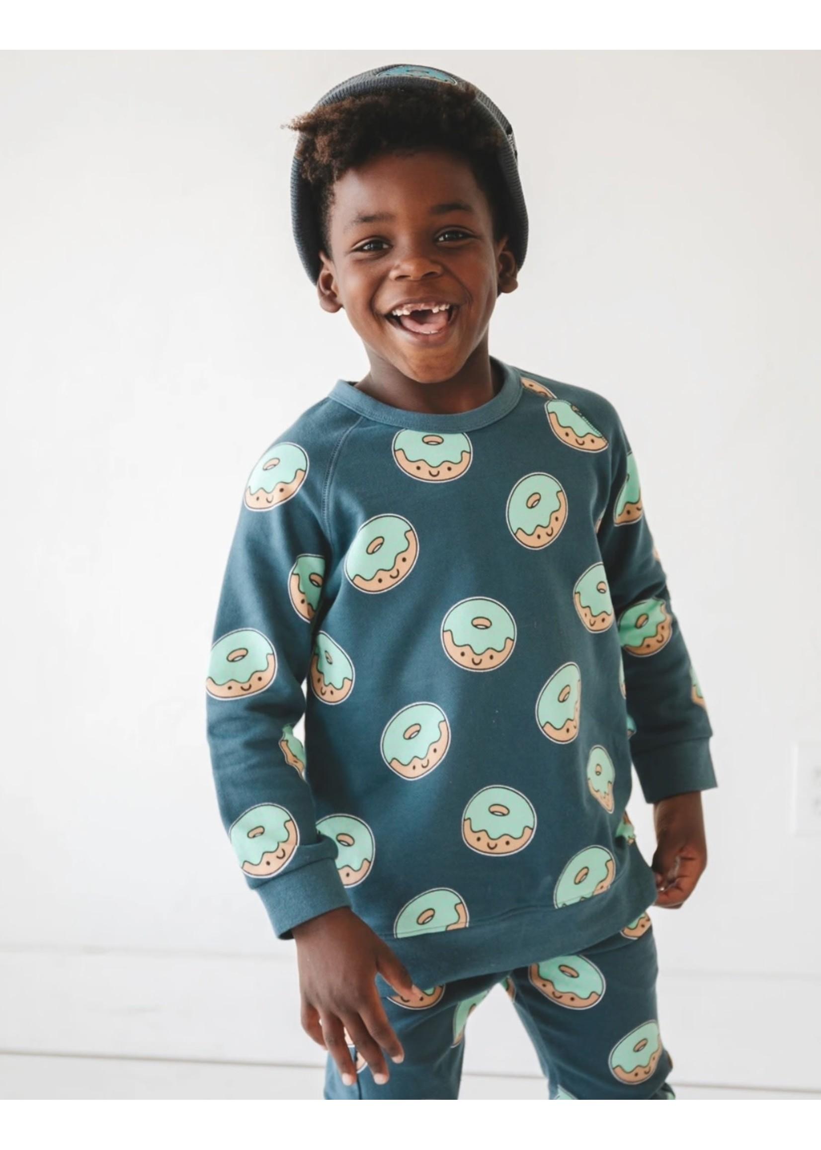 Whistle & Flute Whistle & Flute, Kawaii Donut Allover Print Sweatshirt