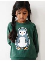 Whistle & Flute Whistle & Flute, Kawaii Penguin Green Sweatshirt