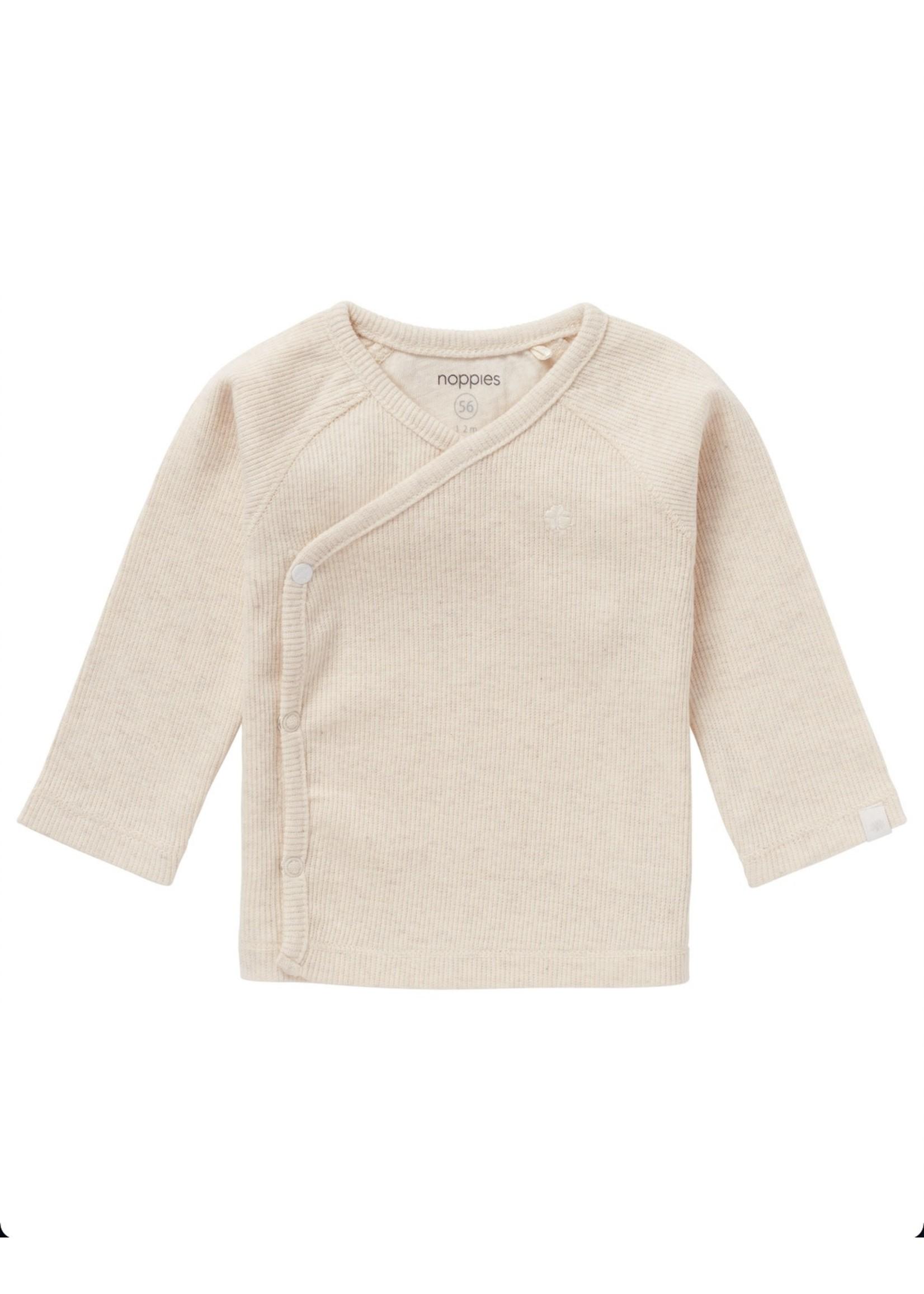 Noppies Kids Noppies Kids, Unisex Nanyuki Ribbed Long Sleeve Top in Oatmeal