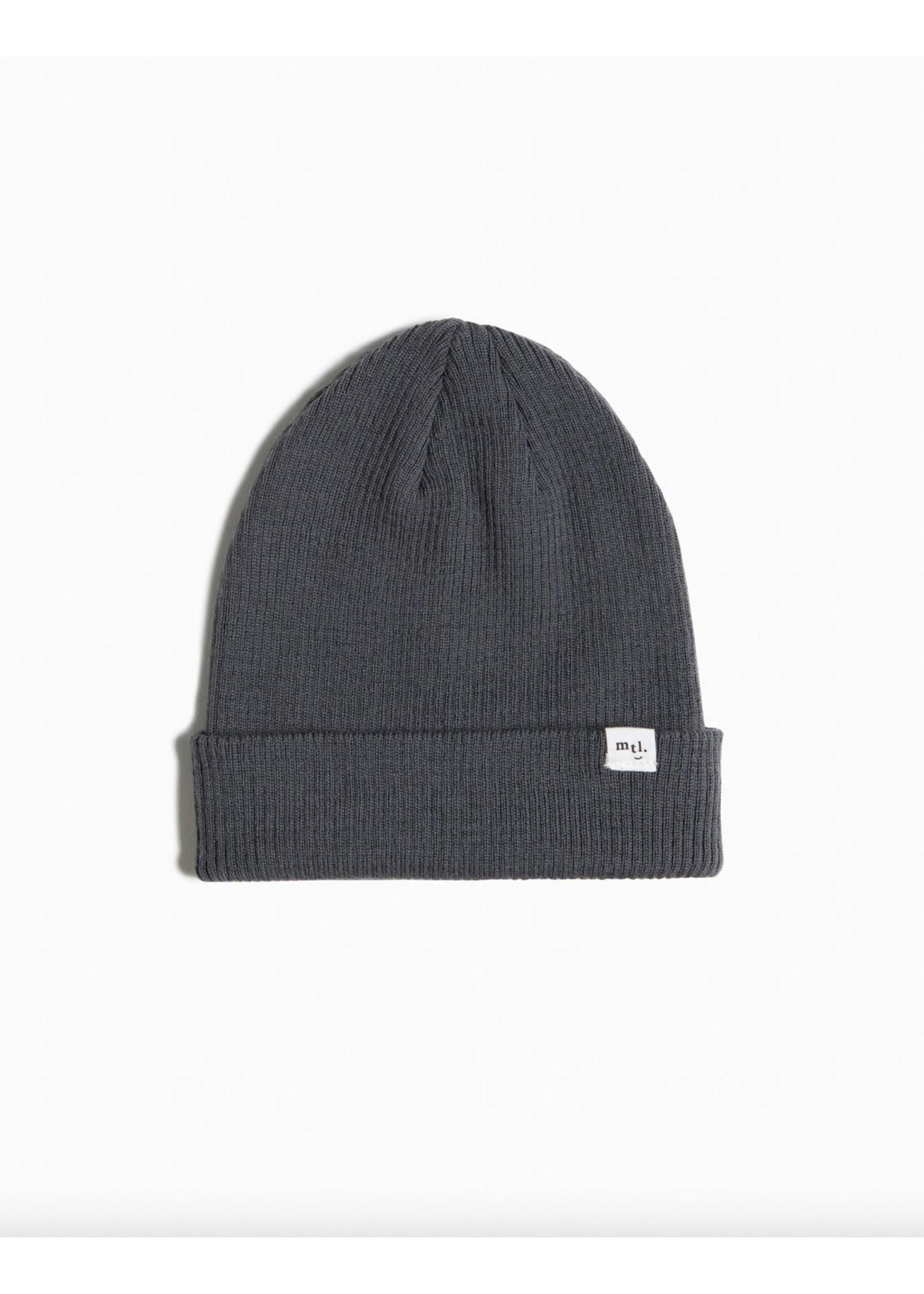 Miles the Label Miles the Label, Charcoal Responsible Merino Ribbed Kid's Beanie