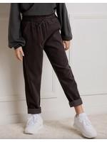 Miles Baby Miles Charcoal Mini-Corduroy Girl Pants