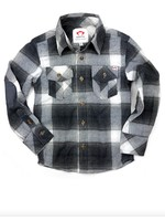 Appaman Appaman, Flannel Shirt in Grey Plaid