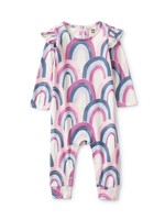 Tea Collection Tea Collection, Over The Rainbow Ruffle Shoulder Baby Romper
