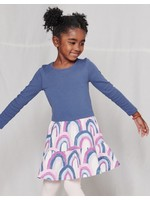 Tea Collection Tea Collection, Over the Rainbow in Pink Tiered Skirted Dress