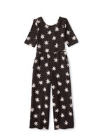 Tea Collection Tea Collection, Black Lucky Star Just for Kicks Jumpsuit
