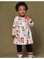 Tea Collection Tea Collection, Stockholm Streets Long Sleeve Skirted Baby Dress