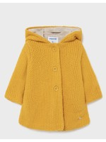Mayoral Mayoral,  Mustard Woven Knit Hooded Jacket