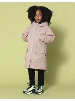 Go Soaky GoSoaky, Black Camel Fur Lined Jacket In Evening Pink