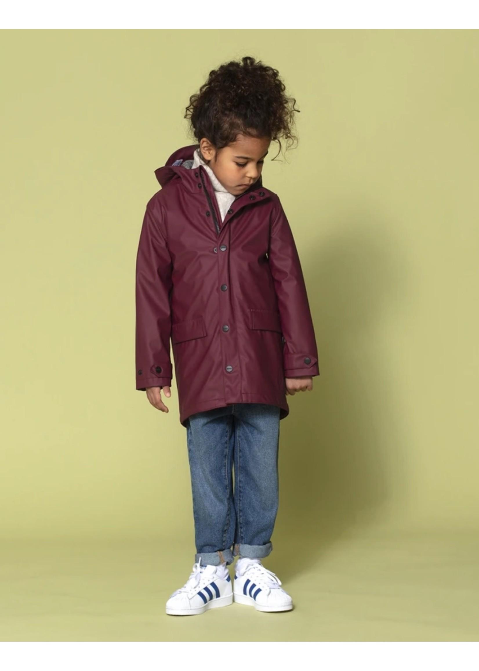 Go Soaky GoSoaky, Lazy Geese Rain Coat in Tawny Port Red