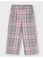 Mayoral Mayoral, Cropped Blush Plaid Pants