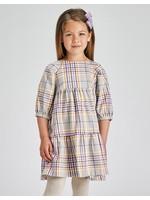 Mayoral Mayoral, Lilac Plaid Dress