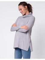 Seraphine Seraphine, Dara Grey Roll Neck Maternity & Nursing Top