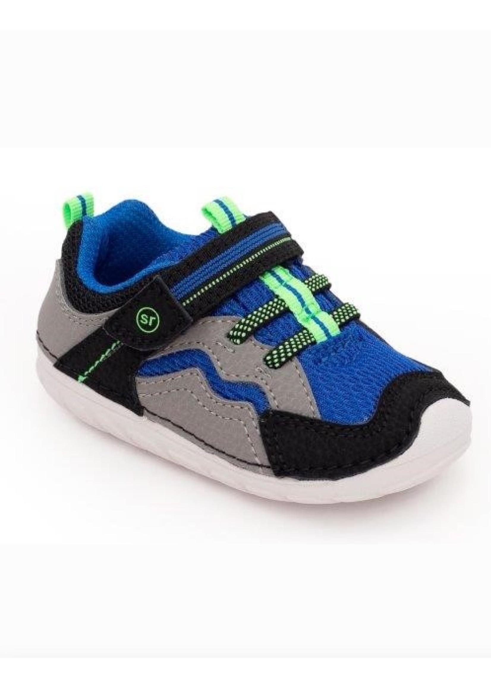 Striderite Stride Rite, Black & Blue Soft Motion Kylo Sneaker