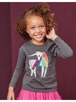 Tea Collection Tea Collection, Rainbow Unicorn Graphic Tee in Pepper
