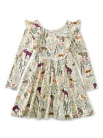 Tea Collection Tea Collection, Sweedish Forest Ruffle Shoulder Ballet Dress