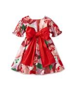 Tea Collection Tea Collection, Super Bloom Red Floral Sash Dress