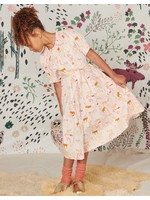 Tea Collection Tea Collection, Swedish Forest Puff Sleeve Midi Dress