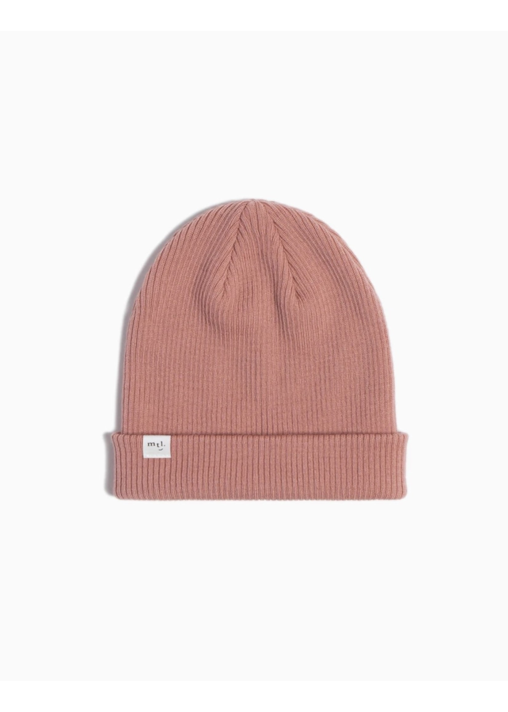 Miles the Label Miles the Label, Dusty Rose Merino Ribbed Kid's Beanie