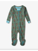 Hatley Hatley, Blue Bears Organic Cotton Footed Coverall