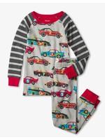 Hatley Hatley, Classic Race Cars Organic Cotton Raglan Pajama Set