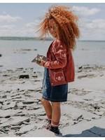 Souris Mini Souris Mini, Red Bear Patterned Knit Cardigan