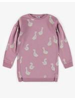Souris Mini Souris Mini, Purple Goose Print Tunic Dress