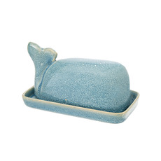 Wild Whale Butter Dish Turquoise