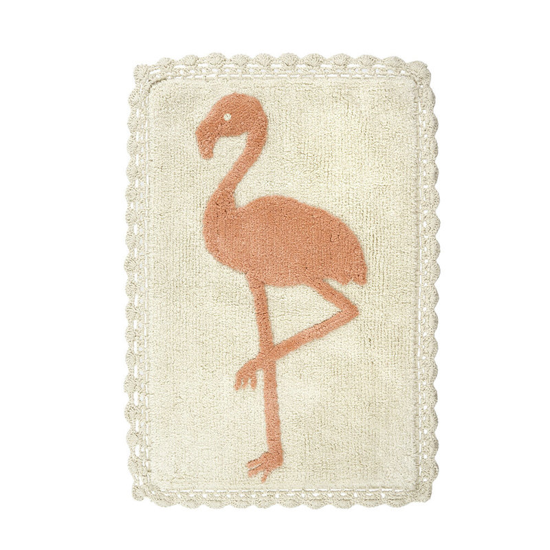 Flamingo Crochet Bath Mat