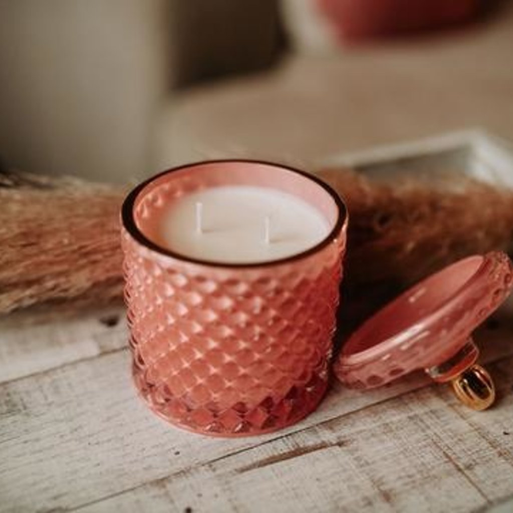 Balsam and Rose Luxe Pink Candle- Vanilla Mint Scent