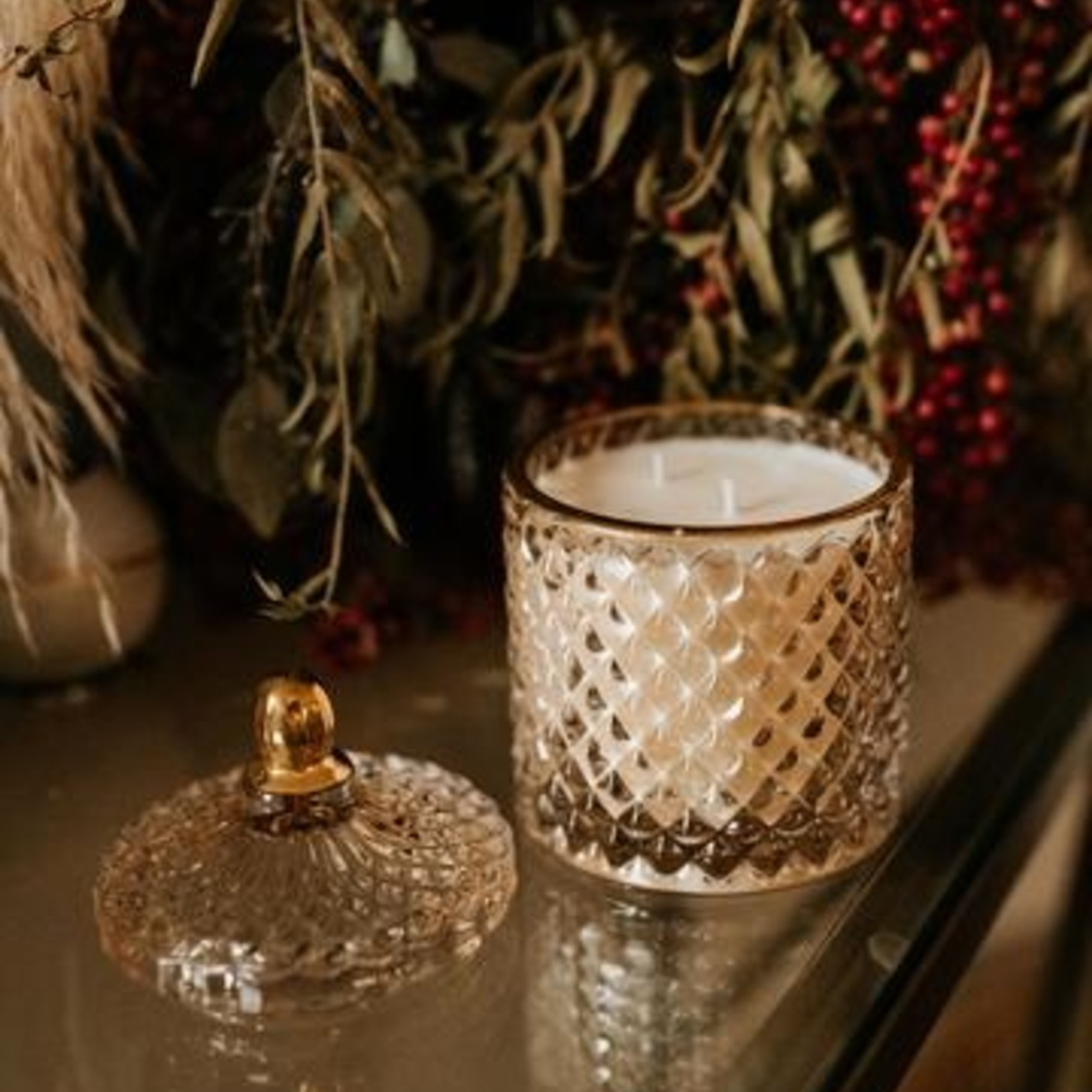 Balsam and Rose Luxe  Creme Candle- Sweet Rose