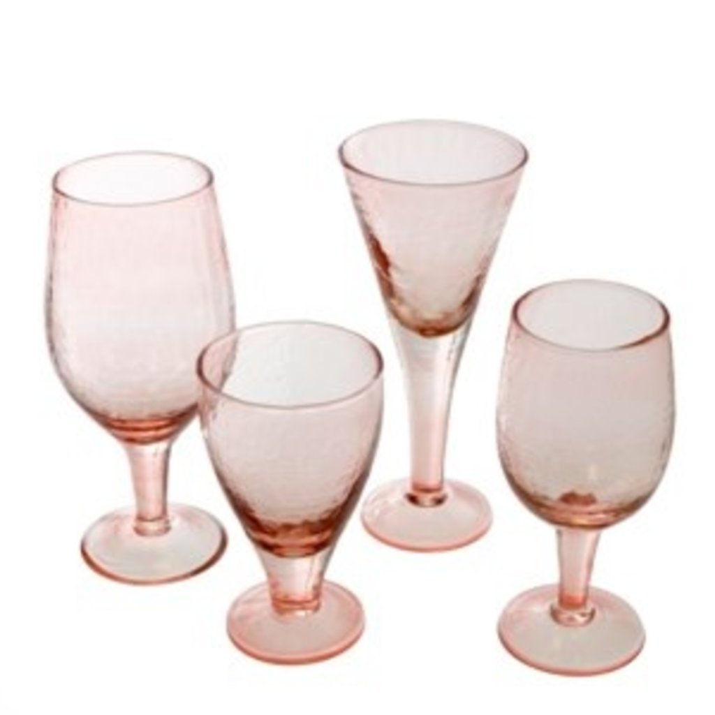 Valdes Wine Glass - Pink