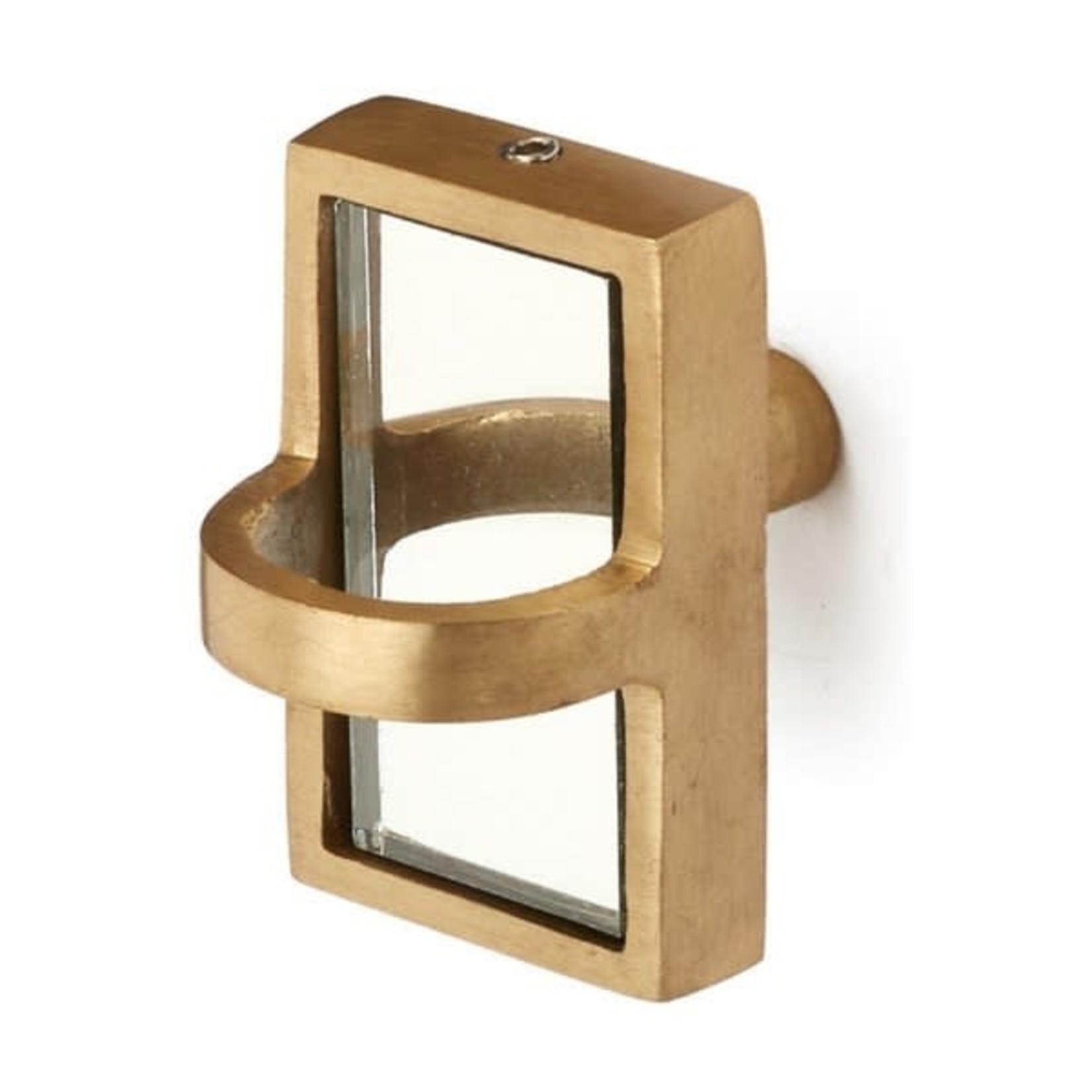 Knob Iron/Mirror Brass