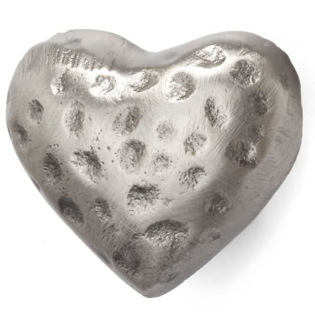 Knob Hammered Iron Heart