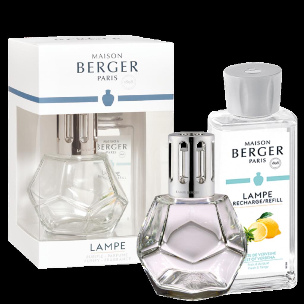 Maison B. Geometry Clear Lamp Gift Set + Zest Of Verbena