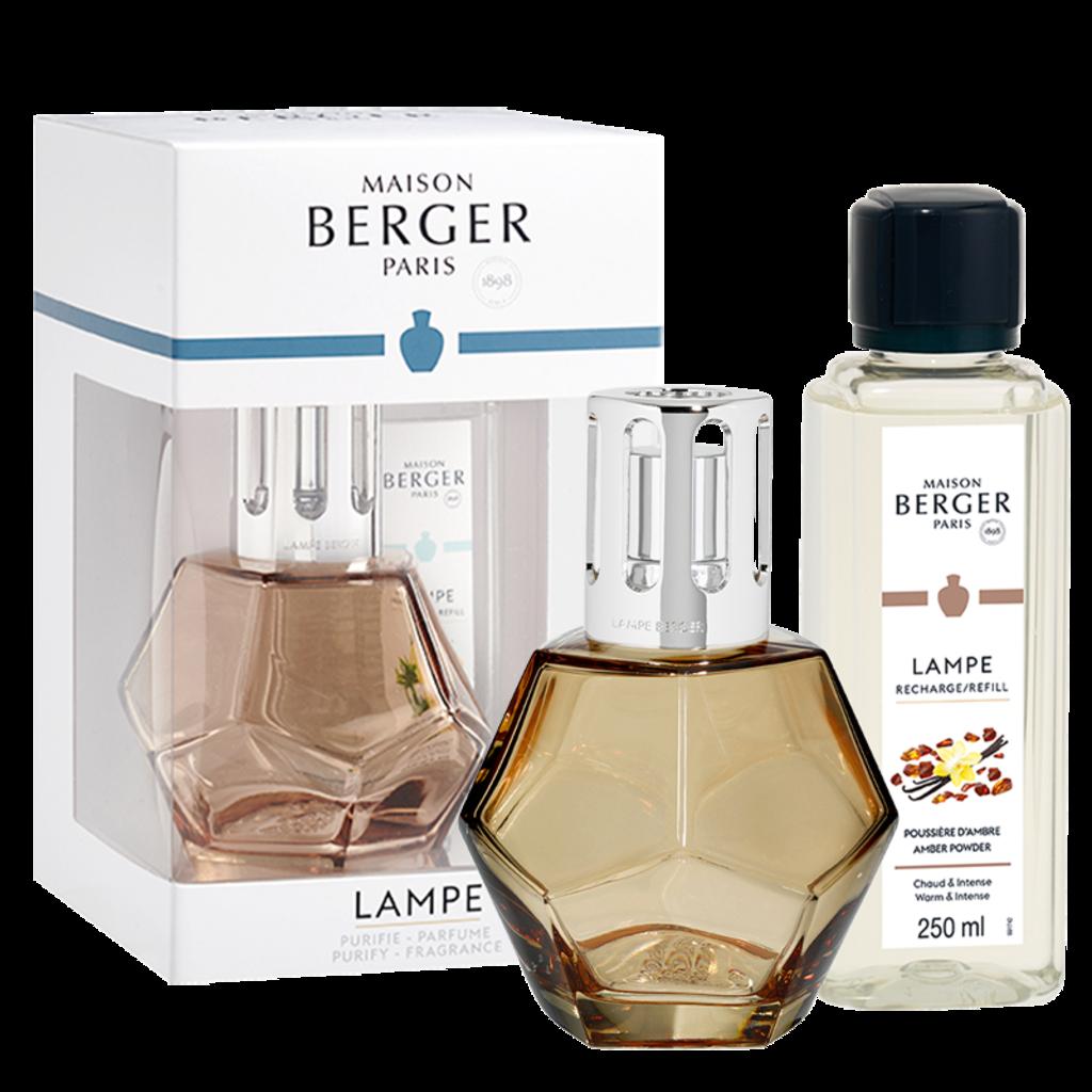 Maison B. Geometry Honey Amber Powder Lamp Gift Set
