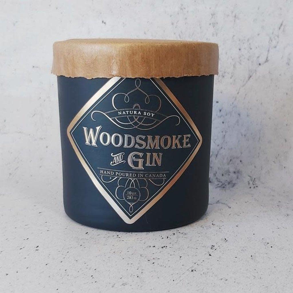 Natura. Woodsmoke Gin Candle 10oz