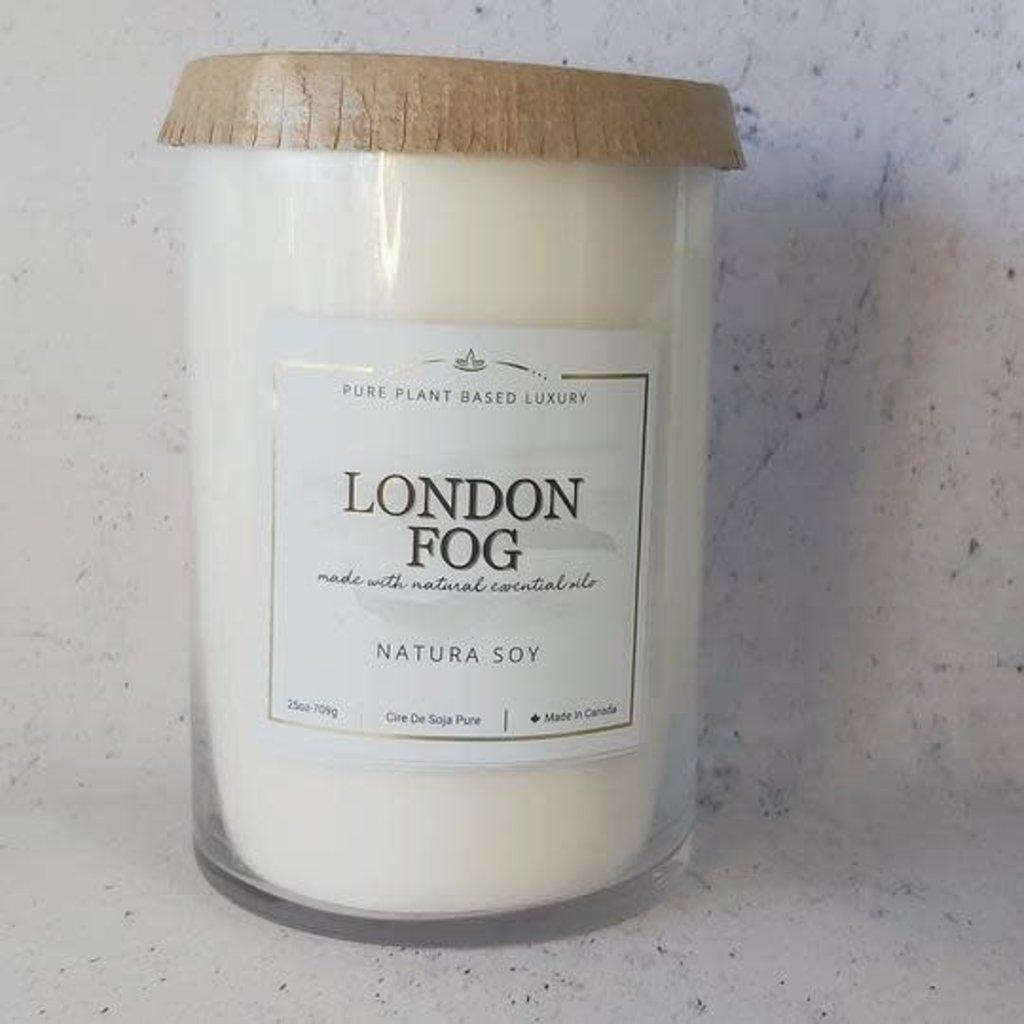 Natura.  London Fog Pillar Candle 25oz