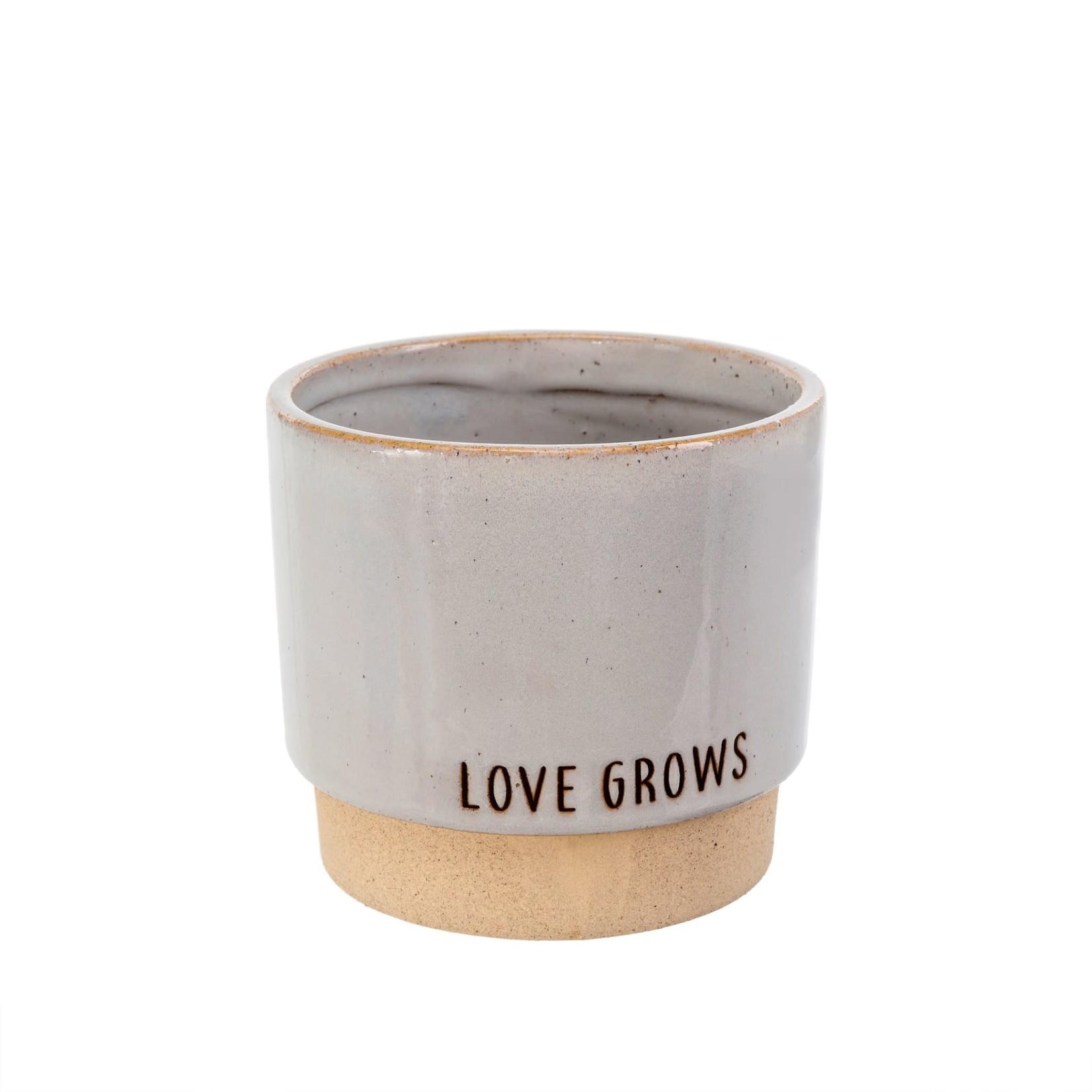 Love Grows Pot Stone