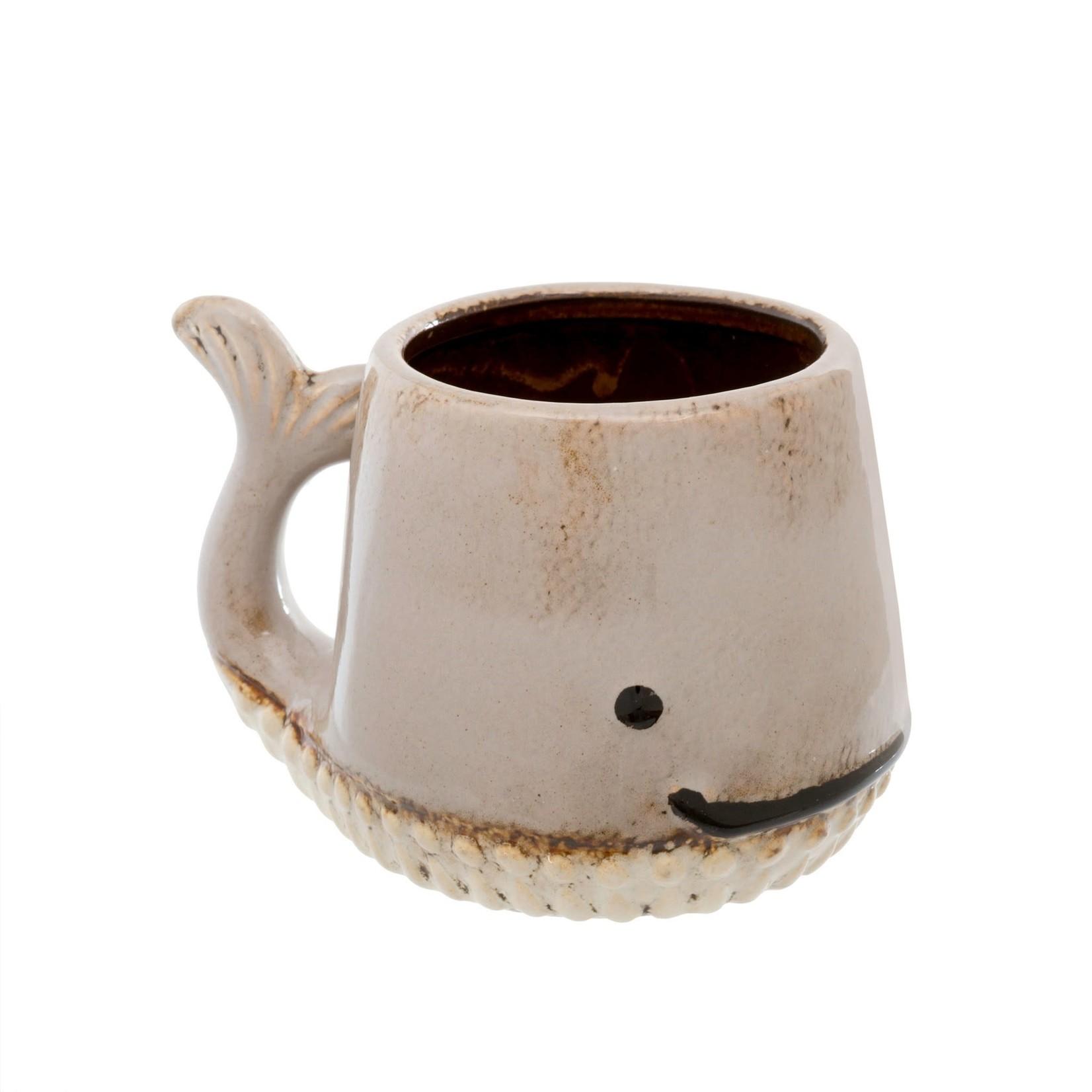 Whale Mug Taupe