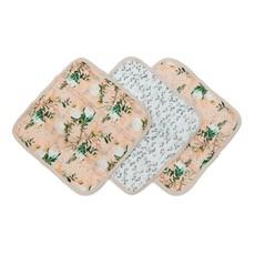 Washcloth 3pc Set -Blushing Protea