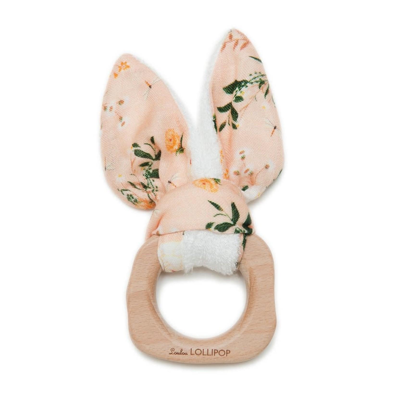 Bunny Ear Teething Ring - Blushing Protea